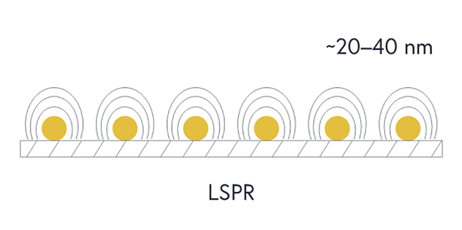 LSPR is much less complex since no prism is needed, leaving you with a smaller and more affordable SPR system
