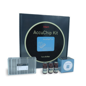Disposable slide (4 channels) and staining solution for ADAM-MC, MC2 & CellT
