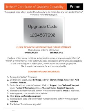 Prime Gradient Upgrade